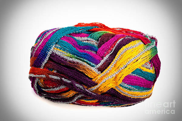 Photograph - Colorful Yarn by Les Palenik