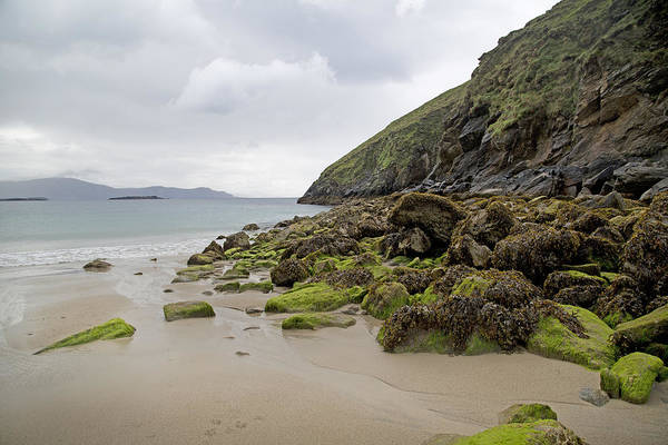 Rock Island Line Photograph - Coloring Life Keem Beach Ireland by Betsy Knapp