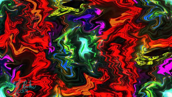 Wall Art - Digital Art - Colors In Motion by Michael Rucker