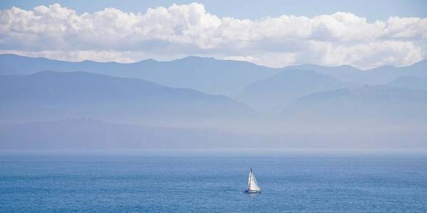Photograph - Colors Of Alaska - Sailboat And Blue by Natalie Rotman Cote