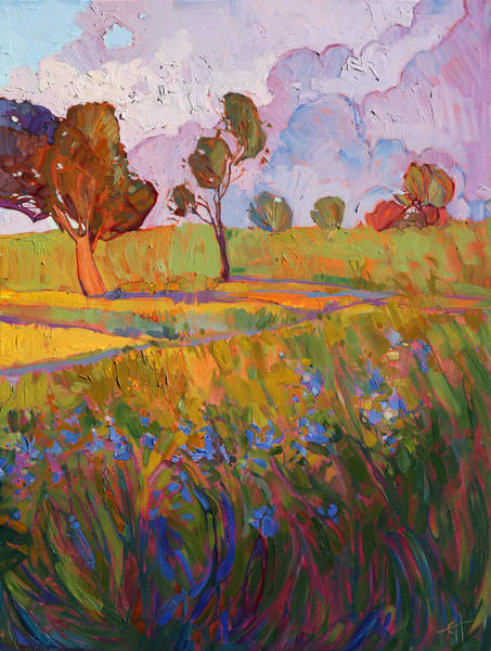 Wall Art - Painting - Colors Of Brenham Triptych - Right Panel by Erin Hanson