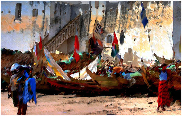 Photograph - Colors Of Commerce At Cape Coast Castle by Wayne King