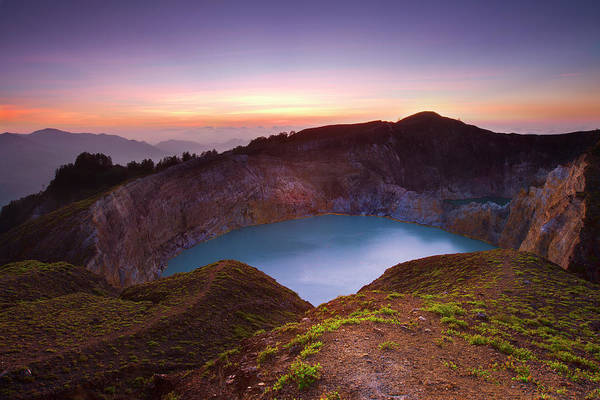Flores Photograph - Colors Of Dawn Over Mount Kelimutu by Photo By Sayid Budhi