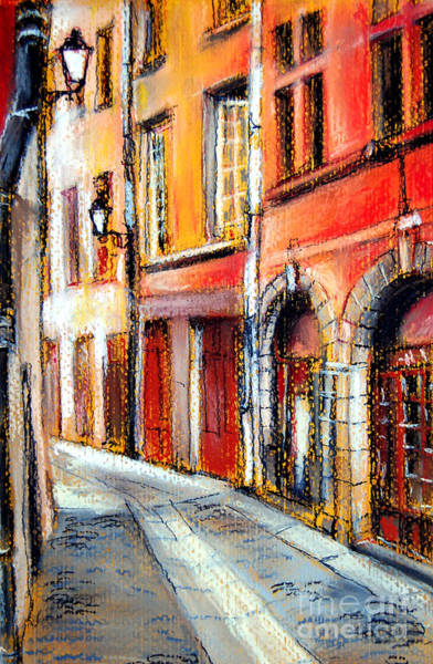 Paysage Wall Art - Pastel - Colors Of Lyon 3 by Mona Edulesco