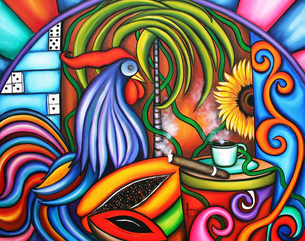 Cuban Painting - Colors Of My World by Annie Maxwell