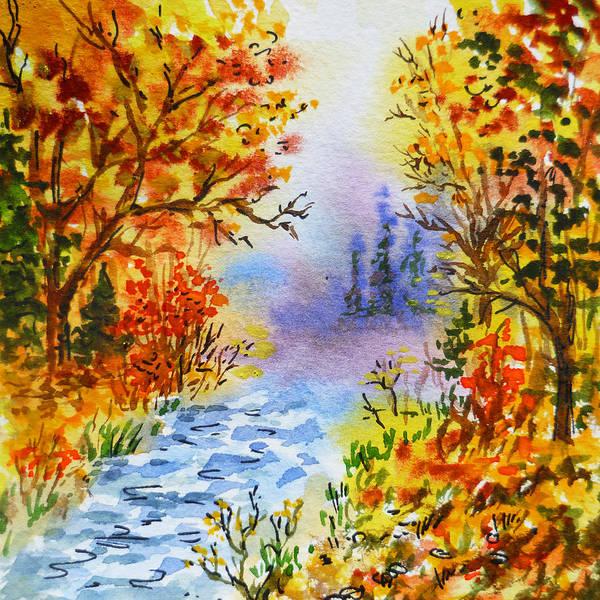 Street Scape Painting - Colors Of Russia Autumn  by Irina Sztukowski
