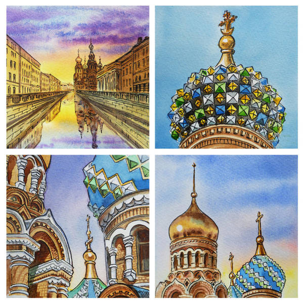 Painting - Colors Of Russia Church Of Our Savior On The Spilled Blood  by Irina Sztukowski