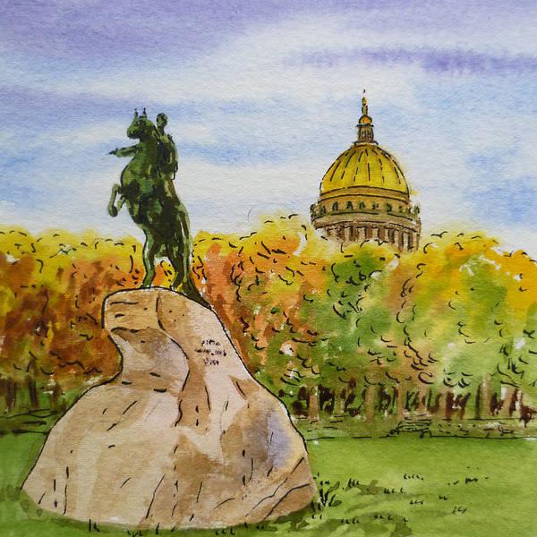 Street Scape Painting - Colors Of Russia Monuments Of Saint Petersburg by Irina Sztukowski