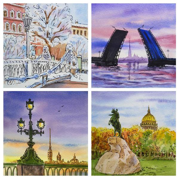 Painting - Colors Of Russia Saint Petersburg by Irina Sztukowski
