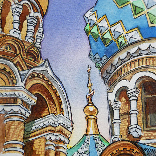 Street Scape Painting - Colors Of Russia St Petersburg Cathedral II by Irina Sztukowski
