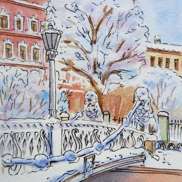 Street Scape Painting - Colors Of Russia Winter In Saint Petersburg by Irina Sztukowski