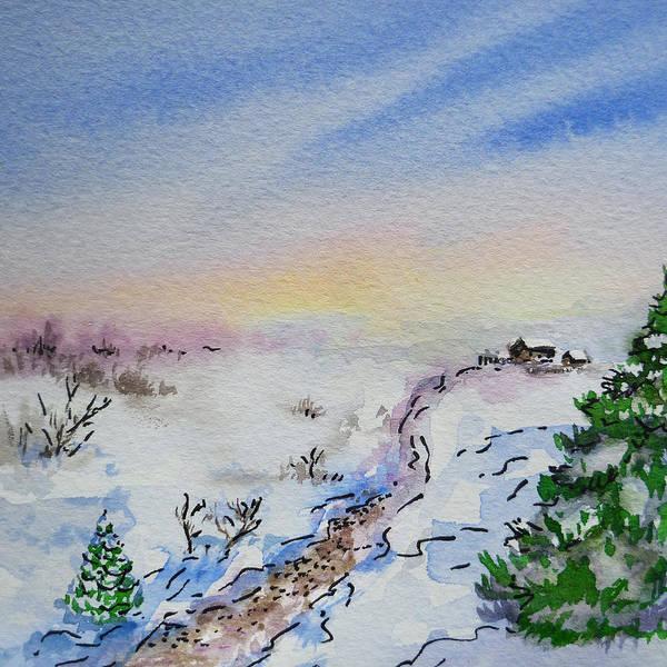 Street Scape Painting - Colors Of Russia Winter by Irina Sztukowski