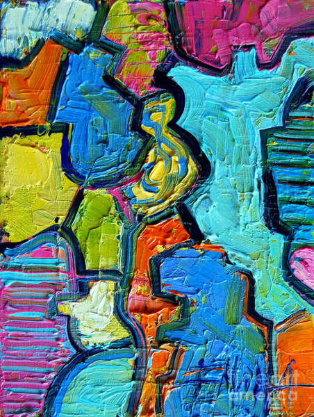 Ultramarine Blue Painting - Colorscape #07 - Puzzled by Mona Edulesco