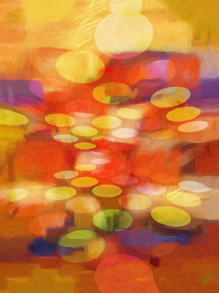 Abstraction Painting - Colorspheres by Lutz Baar