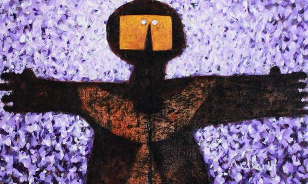 Outsider Wall Art - Painting - Colos Dioxozine Embrace by Mark M  Mellon
