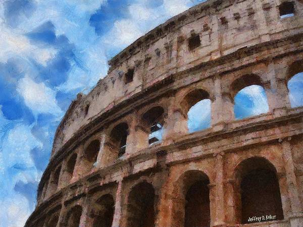 Wall Art - Painting - Colosseo by Jeffrey Kolker