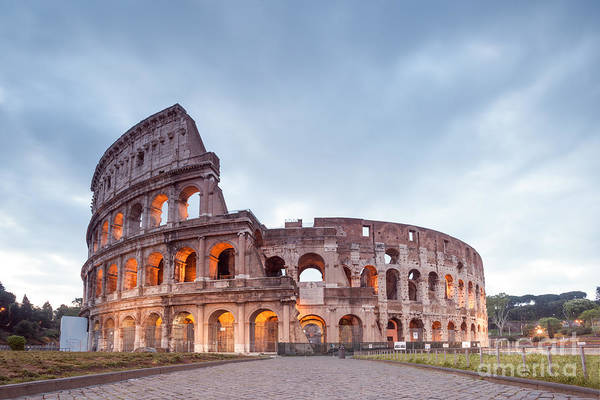 Wall Art - Photograph - Colosseum At Sunrise Rome Italy by Matteo Colombo
