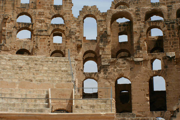 El Jem Photograph - Colosseum Eyes by Jon Emery