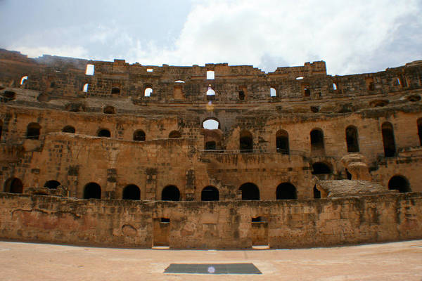 El Jem Photograph - Colosseum by Jon Emery