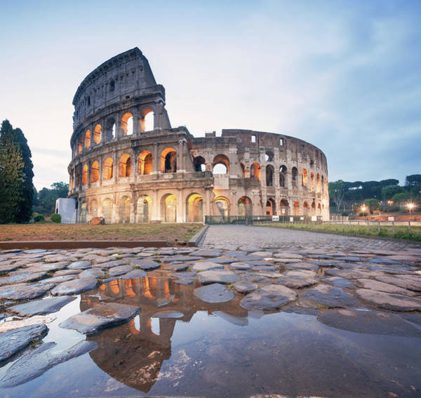 History Photograph - Colosseum Reflected At Sunrise, Rome by Matteo Colombo