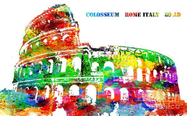 Colosseum Rome Italy Art Print