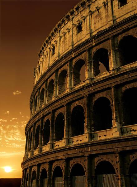 Coliseum Photograph - Colosseum Sunrise by Ron Sumners
