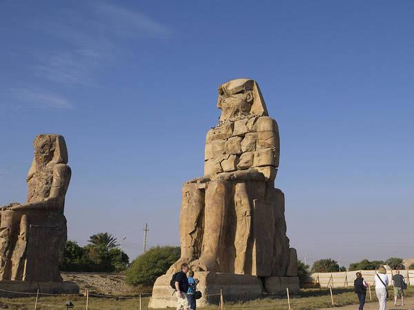 Photograph - Colossi Of Memnon Egypt by Brenda Kean