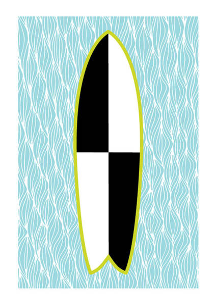 Surfing Photograph - Colour Block Surfboard by MGL Meiklejohn Graphics Licensing