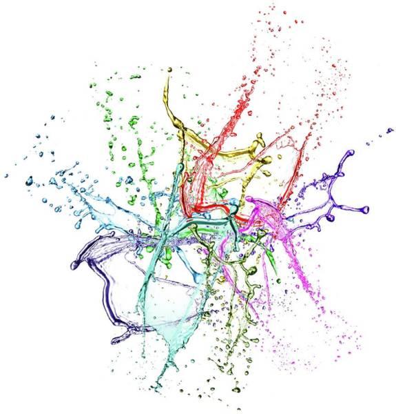 Wall Art - Photograph - Colour Splash by Wladimir Bulgar/science Photo Library