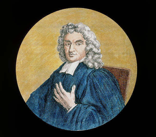 Astronomer Photograph - Coloured Historical Artwork Of John Flamsteed by Science Photo Library