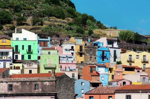 Sardinia Photograph - Coloured Houses Late Afternoon In Bosa by Paul Biris
