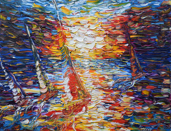 Painting - Coloured Sails by Pete Caswell
