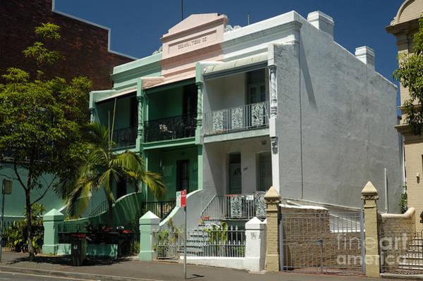 Photograph - Colourful Australian Terrace House by David Hill