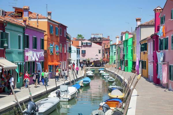 Oar Photograph - Colourful Buildings by Grant Faint