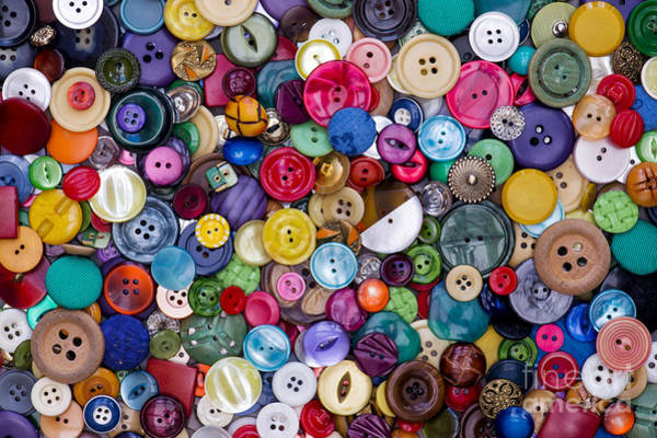 Photograph - Colourful Buttons by Tim Gainey
