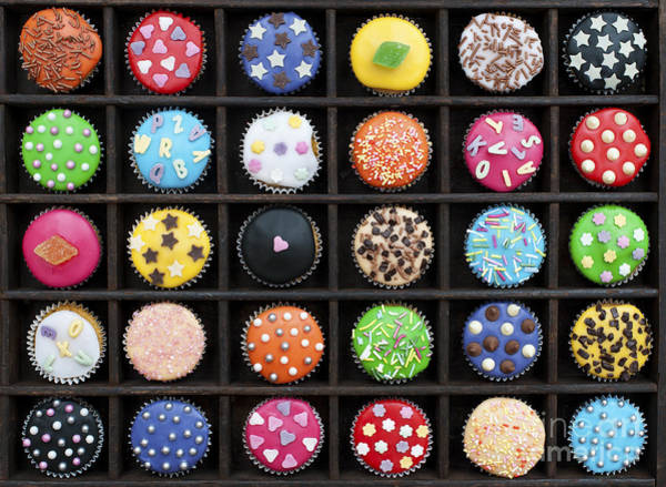 Hundred Photograph - Colourful Cupcakes  by Tim Gainey