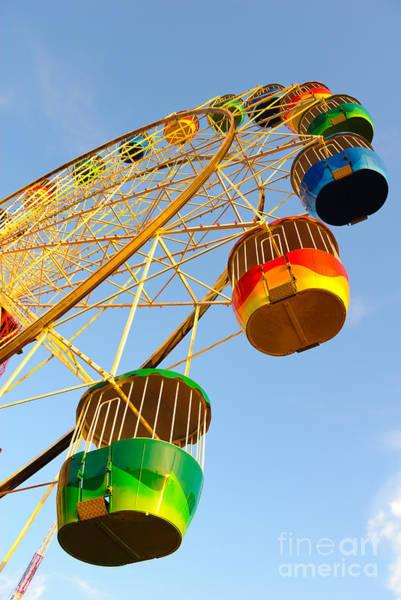 Colourful Ferris Wheel Art Print