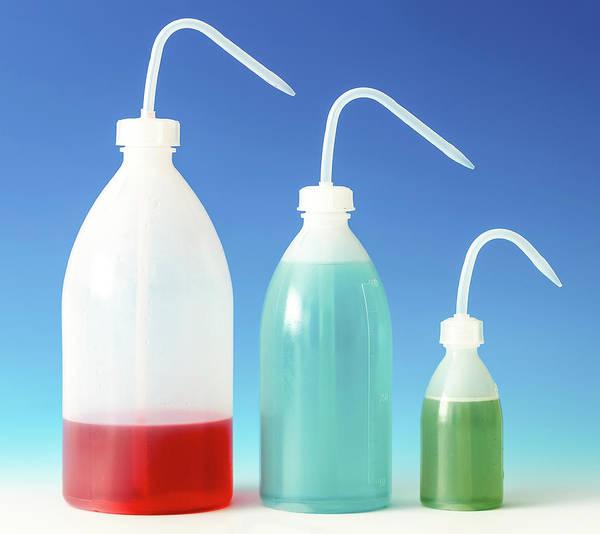 Bottle Green Photograph - Colourful Liquids In Plastic Bottles by Wladimir Bulgar