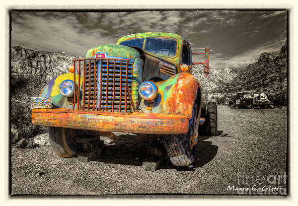 Pyrography - Colourfull Truck by Mauro Celotti