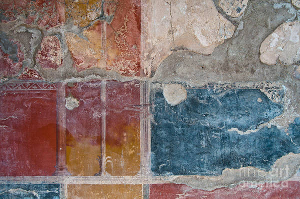 Roman Wall Photograph - Colours Of Herculaneum by Marion Galt