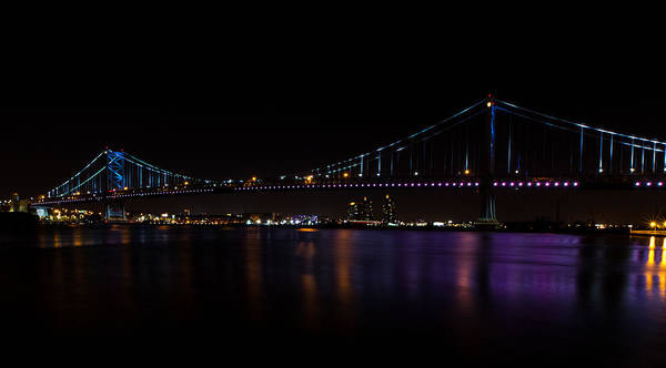 Photograph - Colours Of The Benjamin Franklin Bridge by Dave Hahn