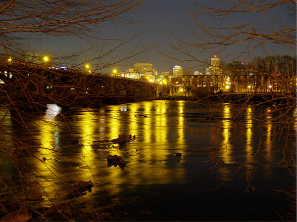 Photograph - Columbia At Night - 1 by Charles Hite