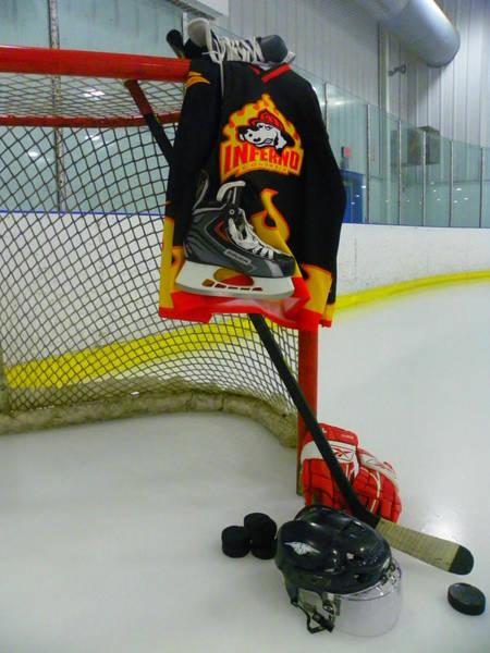Photograph - Columbia Inferno Away Hockey Jersey by Lisa Wooten