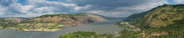 Rowena Photograph - Columbia River Gorge Panorama Oregon by Fotovoyager