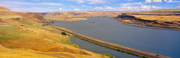 Chasm Photograph - Columbia River In Oregon, Viewed by Panoramic Images