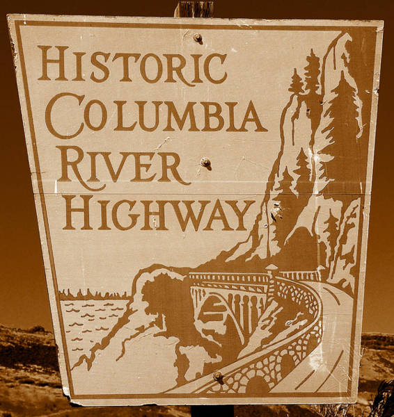 Thompson River Photograph - Columbia River Sign by David Lee Thompson