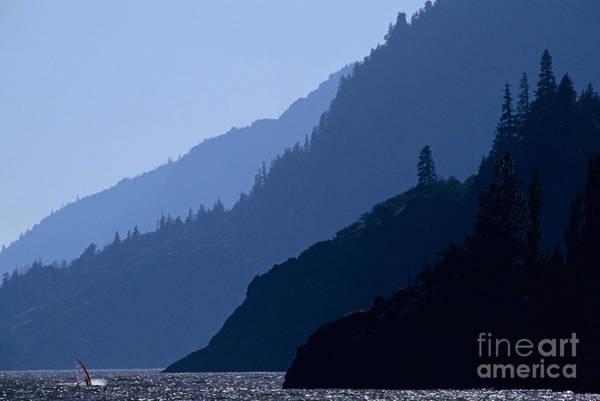 Wind River Range Wall Art - Photograph - Columbia River Windsurfing by Jim Corwin