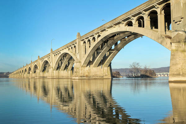 Lancaster County Photograph - Columbia-wrightsville Bridge With by Drnadig