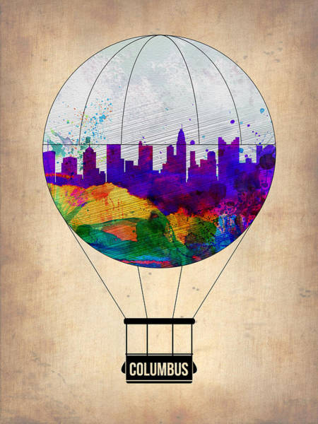 Columbus Wall Art - Painting - Columbus Air Balloon by Naxart Studio