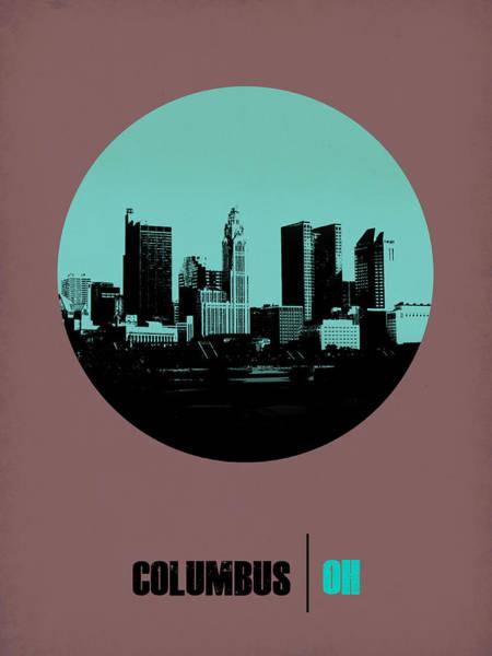 Downtown Digital Art - Columbus Circle Poster 2 by Naxart Studio